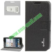 Hairline Texture leather cover case for huawei c8813 with Credit Card Slots & Holder