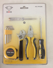10pcs hand tool set with double blister