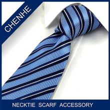 low moq custom made stripe neckties for company staff