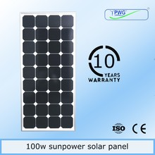 Special offer! Wholesale 100w sunpower mono pv solar panel manufacturers in china