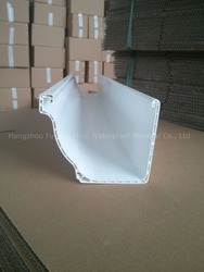"factory direct! PVC Rain Gutter Plastic PVC Building Material White color size 5.2 and 7"" available"