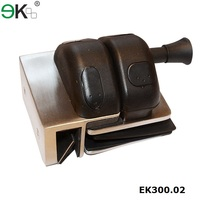 Frameless glass pool fencing spring door latch lock
