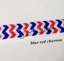 Red white and blue FOE foldover elastic in stock for 4th July
