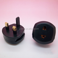 British 3 pin flat electrical plug with connector