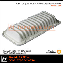 Hot sale Japanese car air filter for Toyota hiace OEM 17801-21030