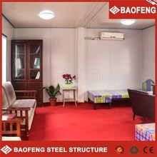 field-assembled multi storey structural steel building with office inside