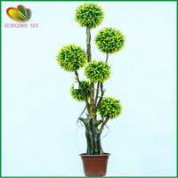 mini artificial topiary frame grass ball bonsai tree for home decoration