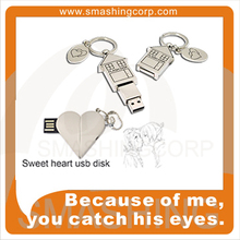 estate gifts, heart shape and metal shape USB Drive, love in family