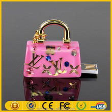Alibaba express jewelry diamond bag usb flash drive