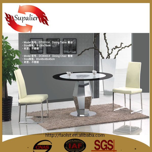 High Quality Round Glass Dining Table And 4 To 6 Chairs For Dining Room Furni