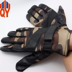 Sheepskin leather motorbike gloves mens motorcycle gloves warm thin gloves
