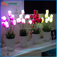 Pink,red,yellow,white etc tulip outdoor & indoor decoration flower decoration artificial flower led flower led lights