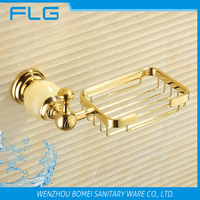 Jade Household Hotel Bathroom Accessories Wall Mounted Gold Net Soap Dish BM88256 Soap Holder