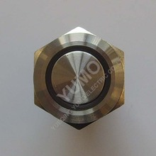 LED 19mm Waterproof rust corrosion Car modificationLed sign momentary stainless steel recordable push button sound modules