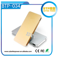 BTP-034 Carregador De Bateria Portatil Para Celular,New Ultra-thin 10000mah Polymer Mobile Power Bank