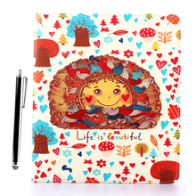 Cartoon Slim Printed Flip Leather Wallet Case Smart Cover Stand For Apple iPad 2 3 4