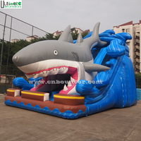 Outdoor giant shark inflatable slide made in China Ultimate inflatable factory