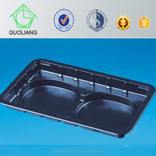 Vacuum Formed Plastic Food Container With Three Compartments