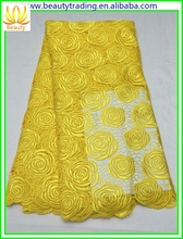high class african guipure cord lace for Floor-Length Hemline and OEM Service Supply Type Wedding Dress---BLW022