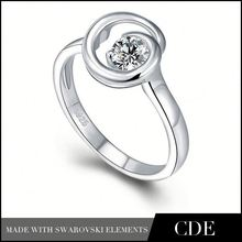 CDE Jewelry Wholesale Distributors Fashion Letter Engagement Ring Silver