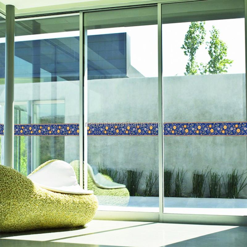 La maison porte en verre décoration sticker mural salle de bains ...