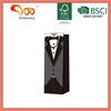 White card paper ribbon handle 3D paper tie wedding wine gift bags