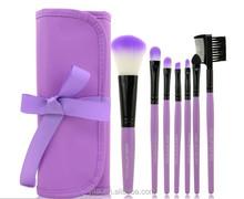 cheap makeup brush set synthetic hair 7 pieces purple