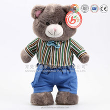 High quality plush teddy bear with pocket & mp3 singing teddy bears