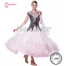 2015 Stage hot pink sequin bright dance dress B-13127