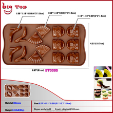 14 Holes Silicone Chocolate Mold Mini Chocolate 14 Holes Girl Shoes And Bag Style Chocolate Mold Wholesale Price Cake Mold