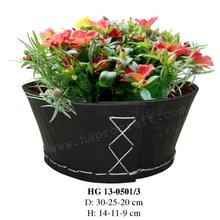 S/3 Recycled rubber flower planter/ Recycled rubber plant pot/ Rubber bucket (HG 13-0501/3)