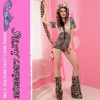 ML5430 Women Sexy Animal Tail Leopard Costumes Cosplay Girls Boutique Outfit