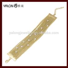 chapado en oro pulsera de la joyería de diseño para mujeres