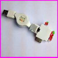Micro USB/Mini USB Mobile Phones 4 in 1 Multi USB Charger Cable Connector for iphone4/4s/5s/6