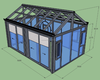 Characteristic quality aluminum glass garden room