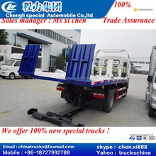 CLW industry produce 6meters full sit on ground car carrier wrecker tower flatbed body