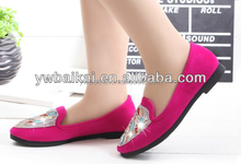 wholesale shiny flat big size woman shoes