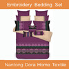 china supplier hand embroidery bed sheet design and embroidery designs 2015 new product