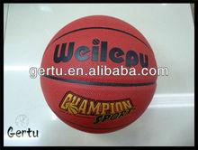 pvc shiny leather basketball