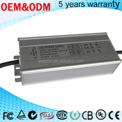 CE SAA ROHS pass waterproof IP65 24v 0-10v dimming led driver