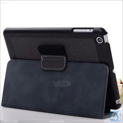 High end black flip Cover PU Leather stand Case For Apple iPad Mini / iPad Air with pen holder