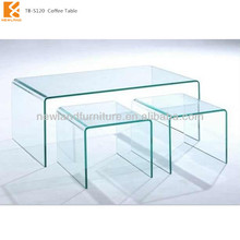 Newland bend glass telescoping coffee tables TB-S120