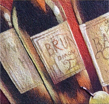 Customized Painting By Numbers Handmade With Sand Painting Materials Of Fruit And Wine