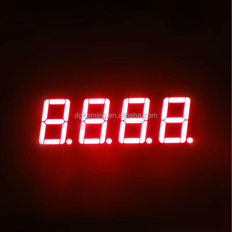 Red 0.5641inch four 4 quad digit ntp digital clock