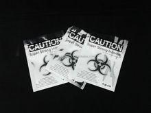 silver caution kush bags/caution wholesale potpourri bags/caution chem ziplock bags