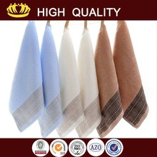 100% cotton pure color small check hand towel wholesales