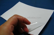White liner pvc adhesive film for picture prection