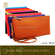 Fashion elegant design thin wallet with handle