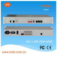 1+1power,1+1 fiber ports ,4e1+4Ethernet pdh fiber multiplexer