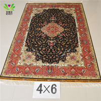230 Lines 4*6ft Turkish Qum Persian silk factory good quality good design good price carpet/rugs